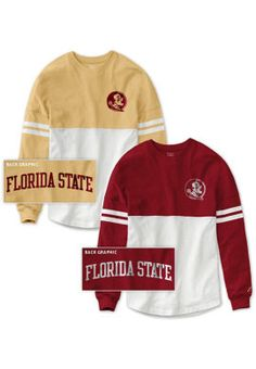 b9f6627cf9b Florida State University Women's Color Block RaRa Long Sleeve T-Shirt | Florida  State University
