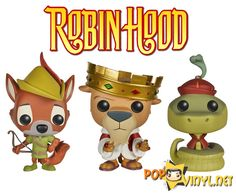 Disney's New Robin Hood Funko POP Vinyls<--- I WANT THEM! If someone loves me they would get me these