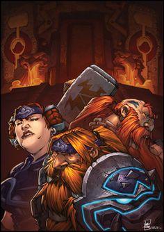 #warcraft #dwarf #nain #muradin #bronzebeard #moira #bronzebeard #kurdran #wildhammer