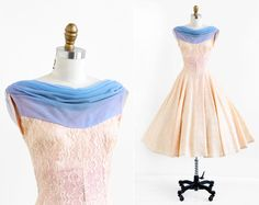 vintage 1950 dress / 50s prom dress / Pale Pink by RococoVintage, $168.00
