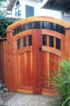 Wooden Gate Door, Wooden Garden Gate, Garden Doors, Fence Gate Design, Privacy Fence Designs, Fence Gates, Backyard Fences, Outdoor Projects, Auburn