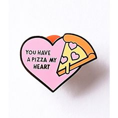 Pink Pizza My Heart Enamel Pin ($12) ❤ liked on Polyvore featuring jewelry, brooches, multicolor, multicolor jewelry, pin brooch, multi color jewelry, pink heart jewelry and pin jewelry