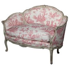 Pink - French Louis XV Style Settee, by Jansen