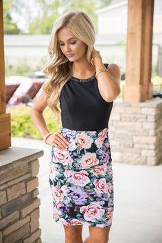 Quite A Masterpiece Floral Dress