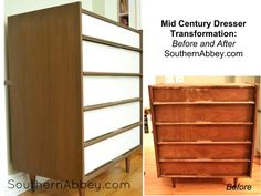 Before and After MCM Dresser  southernabbey.com  #dresser