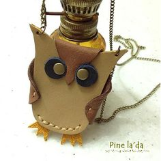 leather owl necklace