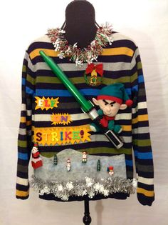 Singing Moving Light Up Ugly Christmas Sweaters