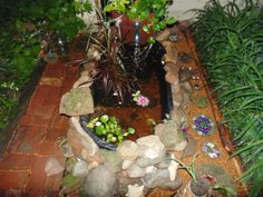 Horse trough container gold fish pond/ fountain - HOME SWEET HOME  - Knitting, sewing, crochet, tutorials, children crafts, papercraft, jewlery, needlework, swaps, cooking and so much more on Craftster.org