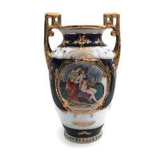 Gilded Porcelain Urn Vase Gilded Urn by TreasuresFoundShoppe