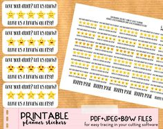 FREE - use these Etsy shipping review stickers on every order you ship to encourage your customers to leave you a good review!
