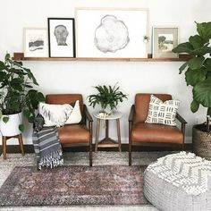 awesome Fascinating Apartment Living Room Interior Design Ideas For You Try Design Living Room, Boho Living Room, Home And Living, Living Room With Chairs, Living Room Neutral, Living Room With Plants, Living Room White Walls, Living Room Corner Decor, Living Room Seating