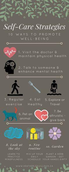 Self-care strategies Infographic & blog post