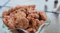 These homemade gluten-free oatmeal strawberry doggie treats are so easy to make and incredibly healthy for your pups. Plus, they're a hit with the pooches!