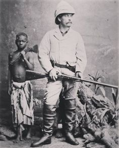 Carte-de-visite of Sir Henry Morton Stanley, - Historical Times Old Pictures, Old Photos, Vintage Pictures, Vintage Images, Lac Tanganyika, Pith Helmet, David Livingstone, Les Continents, East Africa