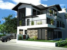 Modern Houses, Nice Houses, Dream Houses, My Dream House, Dream Job, Exterior  Design, Facade Design, House Design, Ideas Para