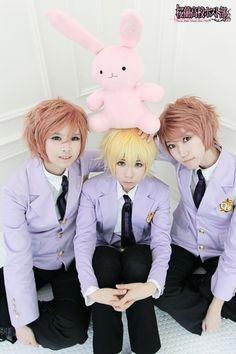 Hikaru, Kaoru and Honey cosplay! (and Usa-chan) Ouran High School Host Club
