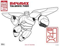 Disney Big Hero 6 Baymax Coloring Page
