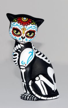 Small Day of the Dead Kitten by temikasperry on Etsy