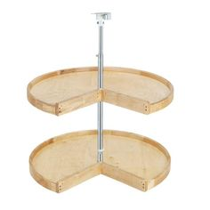 Rev-A-Shelf 4WLS942-31P-52 Wood Classics 31 Inch Diameter Two Shelf Pie-Cut Lazy Natural Wood Lazy Susans Pie Cut