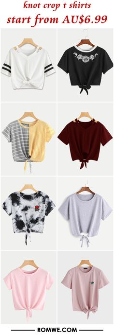 knot crop t shirts from AU$6.99