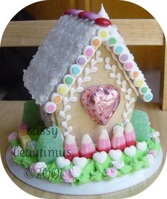 Valentine's Day Gingerbread/Sugar Cookie House, BACK