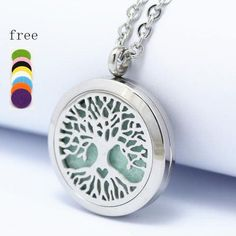 New Round Silver Heart of MOM 30mm Aromatherapy / Essential Oils Stainless Steel Perfume Diffuser Locket Necklace