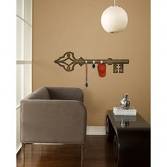 Antique Key Wall Decals with Hooks | RoomMates Peel and Stick Décor  sc 1 st  Pinterest & 144 best Roommates Peel u0026 Stick Wall Decals images on Pinterest ...