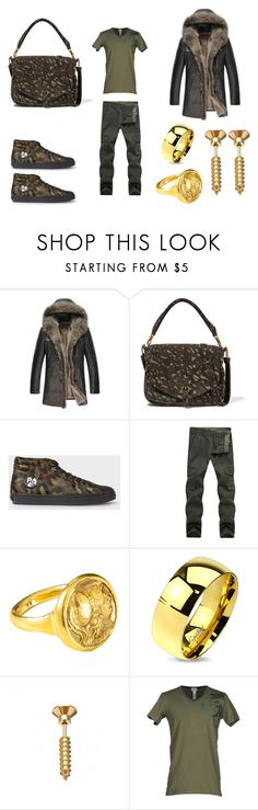 """""""Untitled #346"""" by jessica-uyvette-thompson ❤ liked on Polyvore featuring Jérôme Dreyfuss, West Coast Jewelry, Diesel, men's fashion and menswear"""