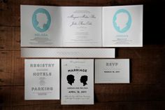 adore this paper suite. silhouettes make everything better.