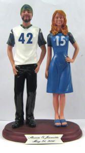 Sports Themed Weddings - Custom Bobblehead Dolls and Figurines Keywords: #weddings #jevelweddingplanning Follow Us: www.jevelweddingplanning.com  www.facebook.com/jevelweddingplanning/