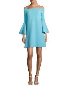 Natalia Off-the-Shoulder Jersey Cocktail Dress