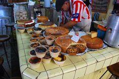 Mercado de San Juan de Dios. Cakes and desserts stand.