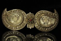 Late-Ottoman era, probably from Greece or made in a Greek workshop in Anatolia. Second half of c. Ethnic Jewelry, Antique Jewelry, Antique Silver, Jewellery, Silver Belts, Silver Pearls, Historical Women, Vintage Belt Buckles, Belts For Women
