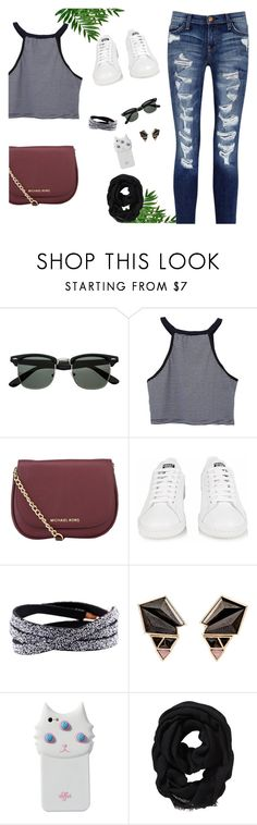 """Your Daily Flatlay no. 134"" by frustrated-designer on Polyvore featuring MICHAEL Michael Kors, adidas, Sia Taylor, Nak Armstrong, Valfré, Old Navy and Current/Elliott"