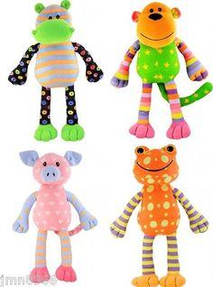 NWT Justice Girls Sockimal Sock Plush Toy U Pick Frog Monkey Dog Hippo Pig NEW