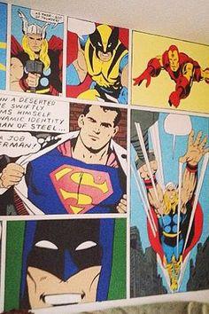 Best Mom Ever Paints Superhero Mural For Her Kid's Bedroom