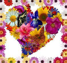 Resultado de imagen para corazones con flores