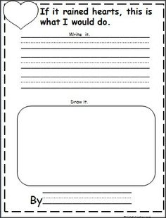 This is a Valentine's Day writing activity available FREE on Madebyteachers.com.