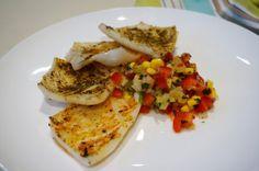 calamari with pineapple salsa