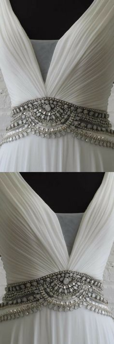 Flapper wedding dress with wonderful fit and jewel… -  Prom shopping is alive and well on Pinterest. Compare prices for this @ Wrhel.com before you commit to buy. #Prom