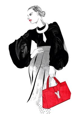 Fashion illustration by Laura Hickman www.laurahickman.co.uk