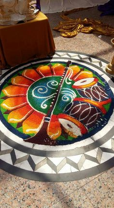 Rangolis Rangoli Designs Latest, Rangoli Designs Flower, Rangoli Patterns, Rangoli Ideas, Rangoli Designs Images, Rangoli Designs Diwali, Flower Rangoli, Diwali Decorations At Home, Festival Decorations