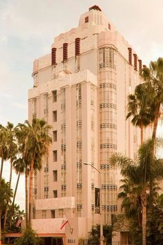 Originally designed as a luxury apartment building in 1927 by Leland A. Bryant, the Sunset Tower is an excellent example of Art Deco Architecture.