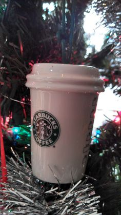 Starbucks ornaments are a MUST have! Prescription Bottles, Pill Bottles, Bottles And Jars, Christmas Tree Ornaments, Christmas Crafts, Diy Ornaments, Christmas Ideas, Christmas Time Is Here, Christmas Holidays