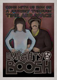'The Mighty Boosh' illustration. www.something-studio.com
