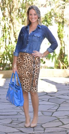 e45f272806 Animal Print Looks · Look de trabalho - look pra trabalhar - work wear -  office outfit - work outfit