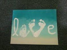 Afbeeldingsresultaat voor beach painting with footprints
