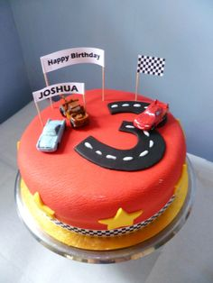 Disney Cars cake for Joshua's 3rd