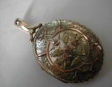 Victorian Silver & Gold engraved Locket