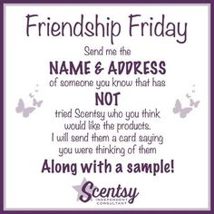 Friendship Friday msheather.scentsy.us or email me Holli.gilbert87@yahoo.com #scentsy #wickless